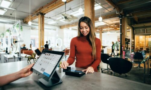 Point of sale software in action